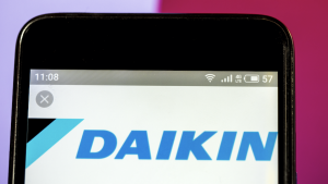 The Daikin logo used for the famous brand.