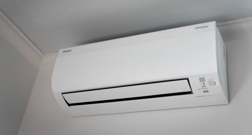 Newly installed air conditioner.